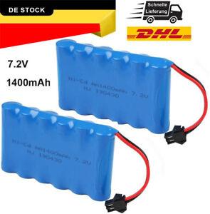 2er Pack 7,2V 1400mAh Akku Pack SM Stecker für RC Auto Ersatzteile Zubehör