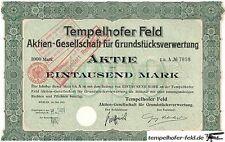 2 HUGE RARE 1895/1911 BONDS 4 TEMPELHOF AIRPORT LAND (#1 NAZI LANDMARK!) CV $400