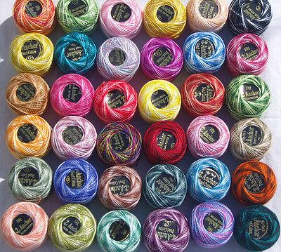 Taille 8,85 Mètres chacun 10 Black ANCRE Perle Coton Boules