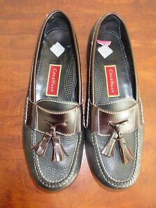 8e23d074d24 Men s Cole Haan Leather Tassel Loafers Shoes Sz 10 D Black   Brown ...