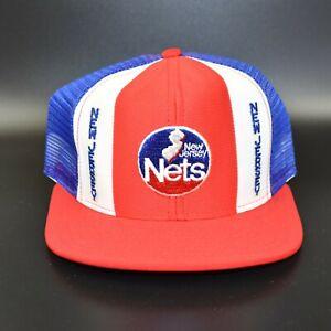 New-Jersey-Nets-AJD-Lucky-Stripes-NBA-Vintage-80-039-s-Adjustable-Snapback-Cap-Hat