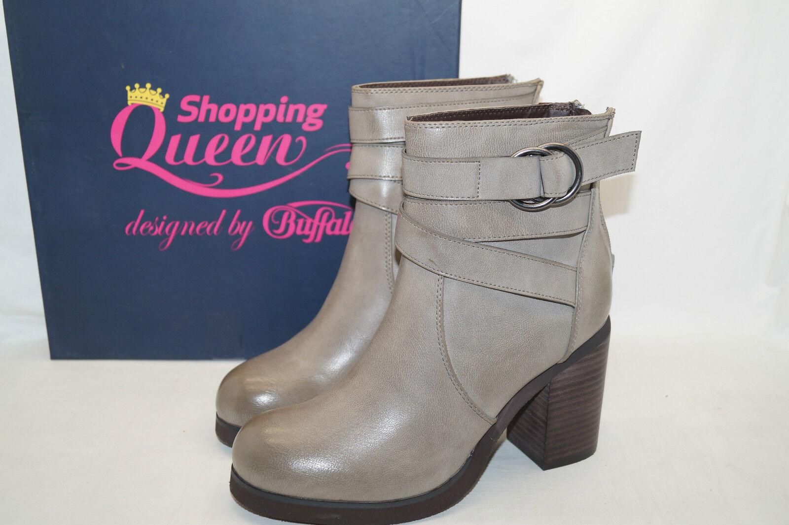 Shopping Queen by by Gr.37 Buffalo STIEFELETTE Blockabsatz Gr.37 by by 3b68dd