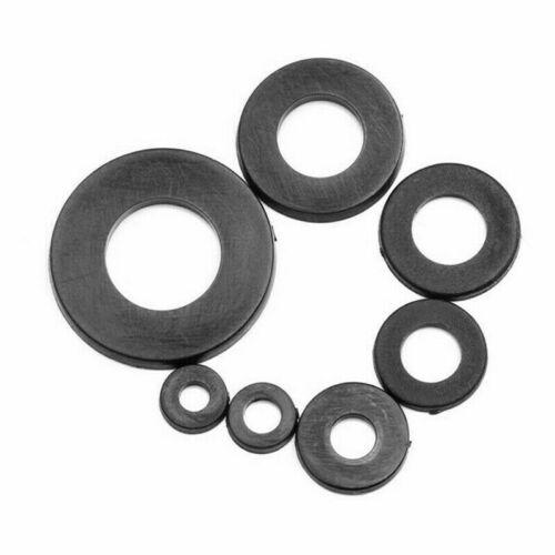250//364x Nylon Rubber Flat Ring Plain Repair Washer Gasket Assortment Kit M2-M8