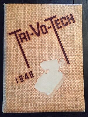 1948 Tri Vo Tech High School Yearbook Middlesex County Woodbridge