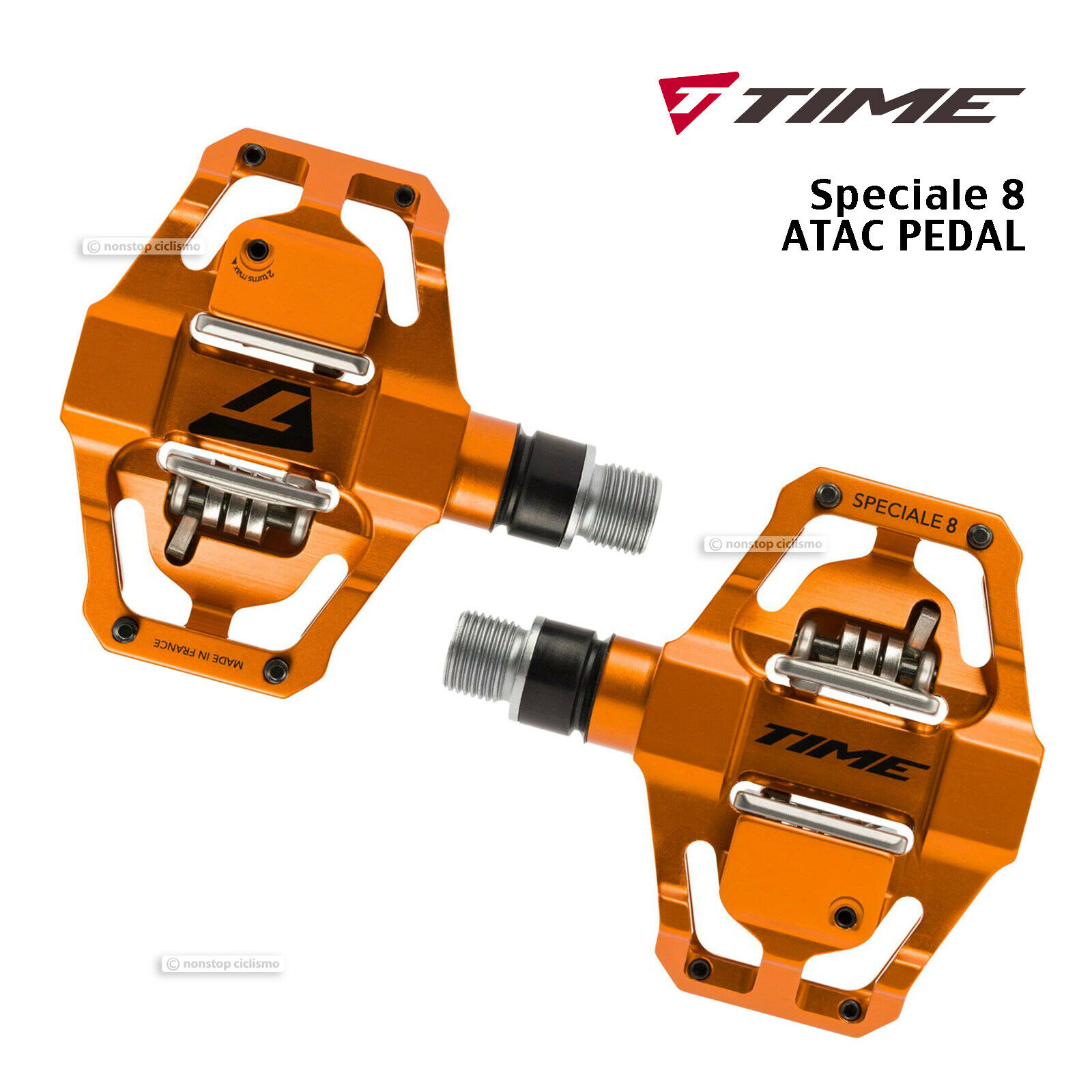 Time Speciale 8 Atac MTB Mountainbike Klickpedale Pedale  Orange