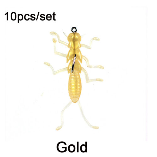 Plastic Hard Crank Swim Crankbait Bionic Bait Larva Insects Fishing Lure
