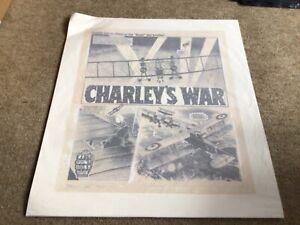 Original Charleys War Art Rare Comic Artwork Print Bristol Board RRP £100