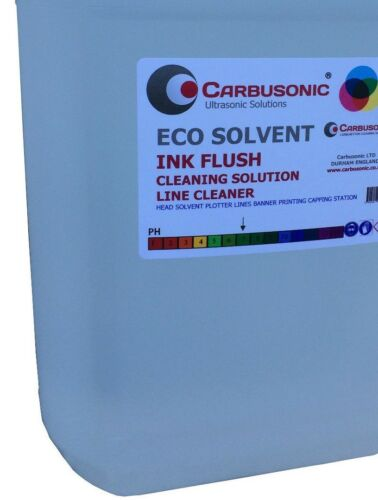 Eco solvent flush clean up solution wide format ink printer heads lines 5 Lt