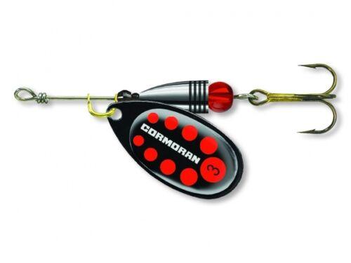1 3,2g 50-42221 TOP//NEU Cormoran Bullet Classic Spinner Schwarz Rot Gr