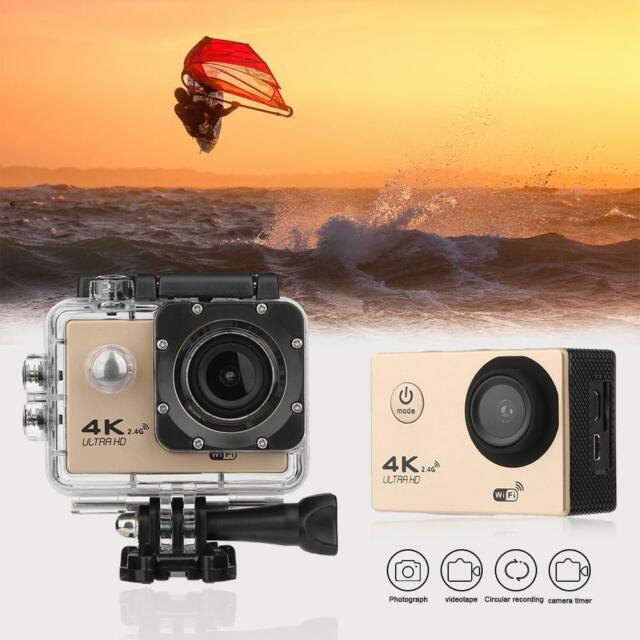 """2"""" LCD 30m Waterproof 1080P HD 4K WIFI 2.4G Remote Action DV Camera for GOPRO"""