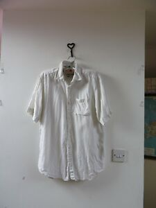 nouveau concept 2a46d bb9a4 Détails sur Angelo Litrico pour c&a pur lin Pâle Pierre à Manches Courtes  Mans Chemise Taille S- afficher le titre d'origine
