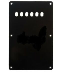 Stratocaster-Back-Plate-BLACK-1-Ply-4-Fender-Squier-Strat-Guitar-Tremolo-Cover