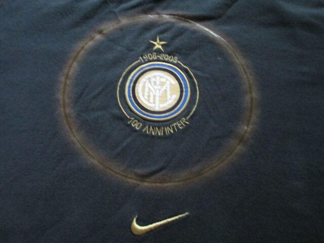 free shipping 2a817 4651f Nike 100th Anniversary Inter Milan Football Club Soccer T Shirt Size M  Medium