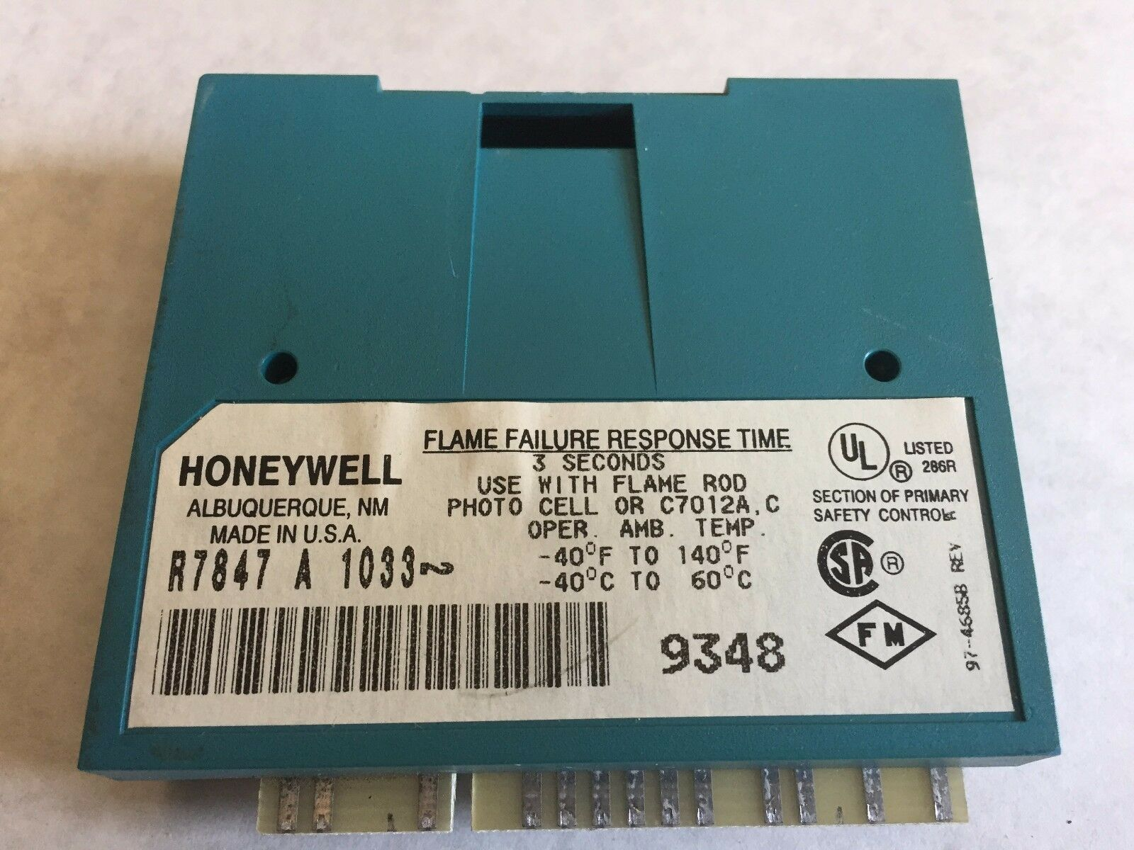 Honeywell R7847 A 1033 Rectification Flame Amplifeir Ebay Emerson M055pwcsw 0283 Goodman 0131m00112 Furnace Blower Motor