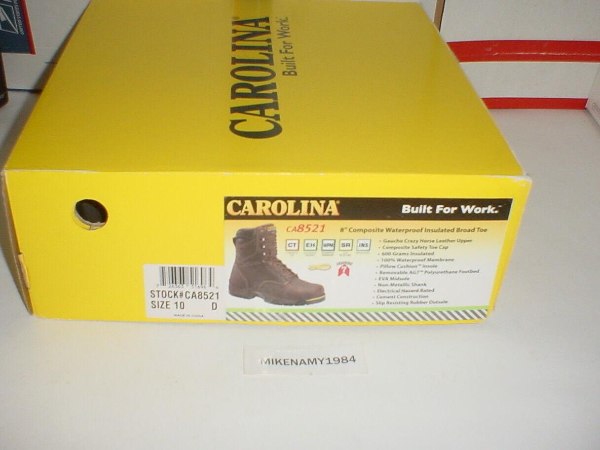 Nuevo CAROLINA  CA5821 8  Impermeable Aislado botas De Trabajo Puntera De Seguridad 10m