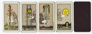 Magnetic-034-Waite-Smith-034-Style-Meditative-Tarot-Aces-All-Four-Suits