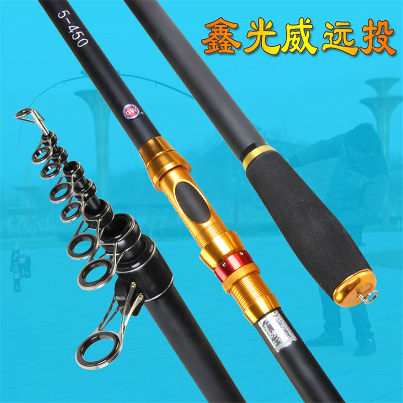 3.6m-5.4mTelescopic  long Spinning Rod beach sea pier fishing rod casting weight  considerate service