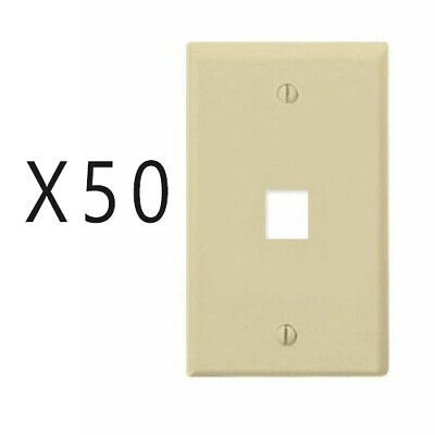 Keystone 4 Hole Port Jack Insert Flush Wall Face Plate Network CAT5e CAT6 Ivory