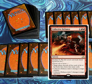 mtg-BUDGET-RED-DECK-Magic-the-Gathering-rare-60-cards-BFZ-menace-dragon-angel