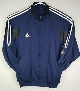 Details about Adidas Men's ClimaCool Track Jacket Blue 3 Stripes RN 88387 CA 40312 Size XL