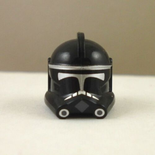 Lego Star Wars Custom Phase 2 Clone Trooper Helmet No Fin black and silver