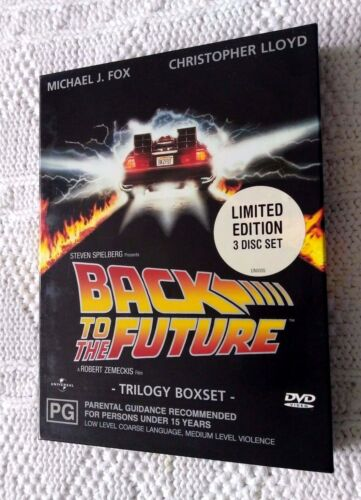 1 of 1 - BACK TO THE FUTURE - TRILOGY BOXSET – DVD, 3-DISC LIMITED EDITION, REGION: 2+4