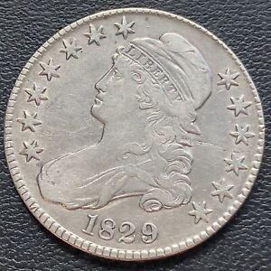 1829 Draped Bust Half Dollar 50c High Grade XF - AU #29252
