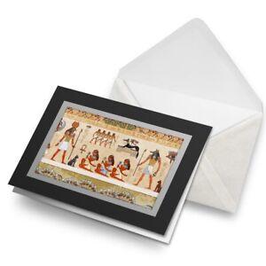 Greetings-Card-Black-Cool-Egyptian-Hieroglyph-s-Art-Birthday-Gift-14227