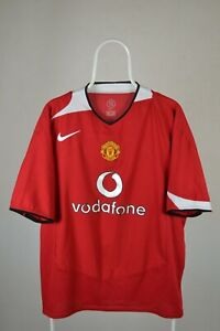 Manchester United 2004/2005/2006 Calcio Casa maglietta jersey Nike Taglia XL Adulto