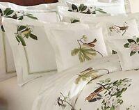 e04f99a4cebb3 One Noble Excellence Villa Aviary Floral Cotton Euro Pillow Shams