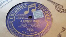 MADAME CLARA BUTT A SUMMER NIGHT SINGLE SIDED COLUMBIA 7136