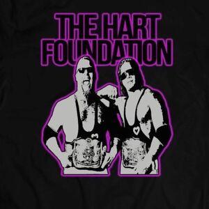 WWF-HART-FOUNDATION-RARE-CUSTOM-WRESTLING-ART-Shirt-FULL-FRONT-OF-SHIRT