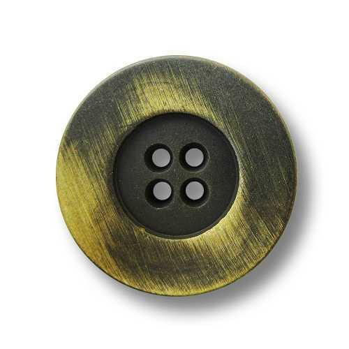 5 modernos eisenfarbene cuatro agujero botones de metal con brillo amarillo 5475ge