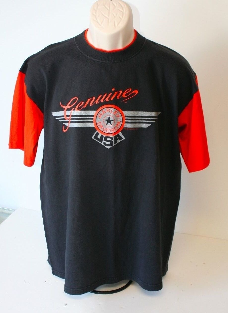 Harley Davidson  Herren T Shirt Large Motorcycles Glendale California Vintage 1994