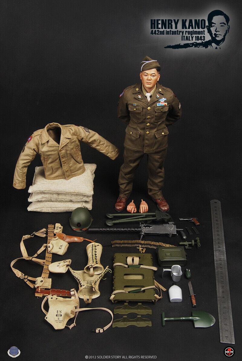 salida Soldier Soldier Soldier Story segunda guerra mundial 442nd Regimiento de Infantería de Estados Unidos, Italia 1943 Henry Kano 1 6 figura  barato y de alta calidad