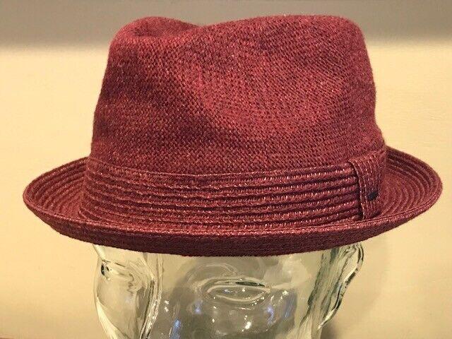 DECKY Basic Poly Woven Fedora Hats WHITE//WHITE, L//XL