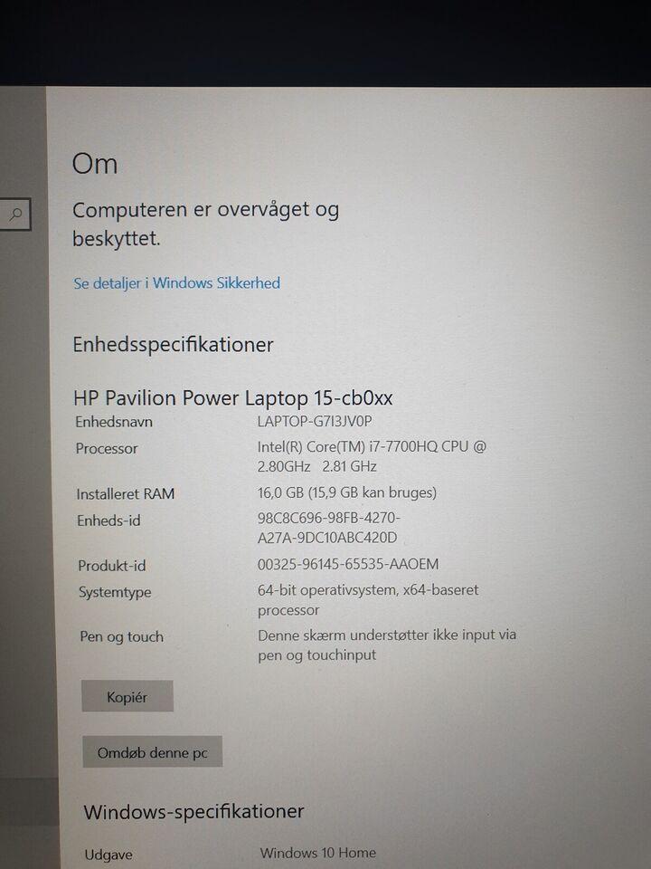 HP Pavillon, 2.81 GHz, 16 GB ram
