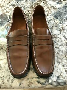 TOD-039-S-Womens-Brown-Driving-Penny-Loafers-Size-8-Shoes
