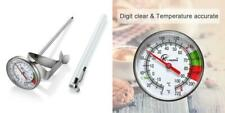 TOYANDONA Instant Read Dial Thermometer Pocket Thermometers for The Coffee Drinks Chocolate Milk Foam Kitchen Cooking Thermometer Stainless Steel