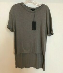 BLACK-ORCHID-Women-039-s-Short-Sleeve-High-Low-TEE-Olive-Size-Small-Cotton-Viscose