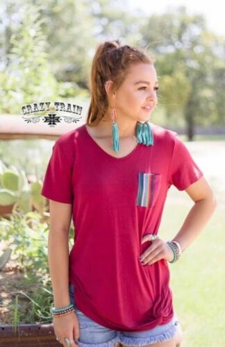 SOUR PATCH POCKET KNOT MAROON//SERAPE BY CRAZY TRAIN