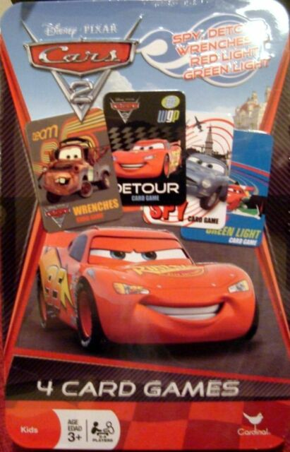 Disney Pixar CARS 4 Card Games in Collectible Decorative Keepsake Tin Ages 3+