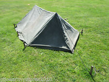 British Army 2 Man Bivvy Canvas Tent Festival Camping Fishing MOD Military G2