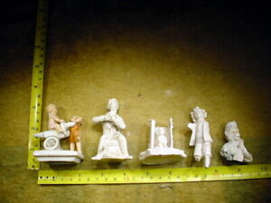 5 X Vintage Excavated Bisque Doll Part Age1890 Mixed Medi Altered Art 12838 Art Supplies