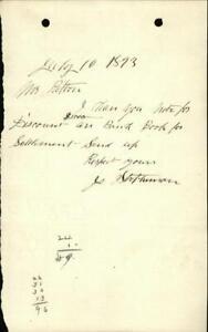 1893 Letter Mrs Patton J. Stephenson