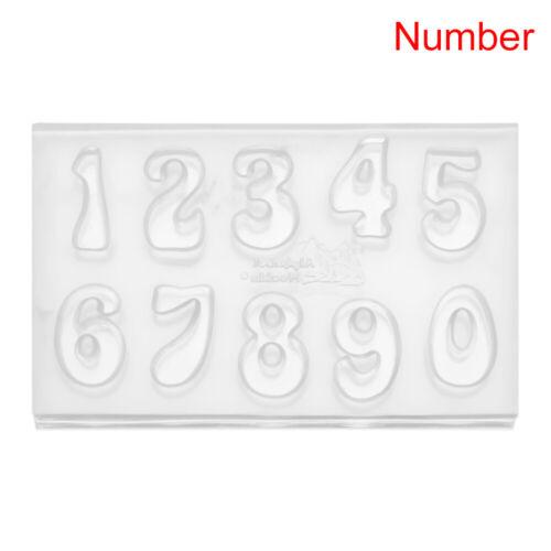 DIY Crystal Silica Gel Alphabet Silicone Molds Number Moulds Letter Resin Molds