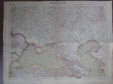 GRANDE CARTE GEO. ANCIENNE EN COULEURS 1920 RUSSIE SUD TURQUIE ARMENIE GEORGIE