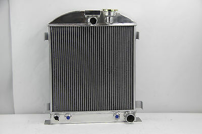 """1932 New 3 Row 4 Pass Radiator Chevy-Engine Ford-Grill-Shells 3/""""-Chopped 32"""