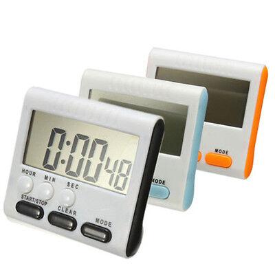 Large LCD Novel Digital Kitchen Timer Count Up Down  Clock Loud Alarm 24 Hours