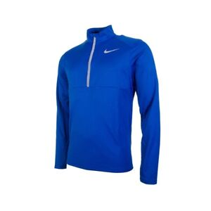 Bnwt Large Homme Nike Dri-fit Core Hz à Manches Longues Bleu Running Top 856827-433-afficher Le Titre D'origine